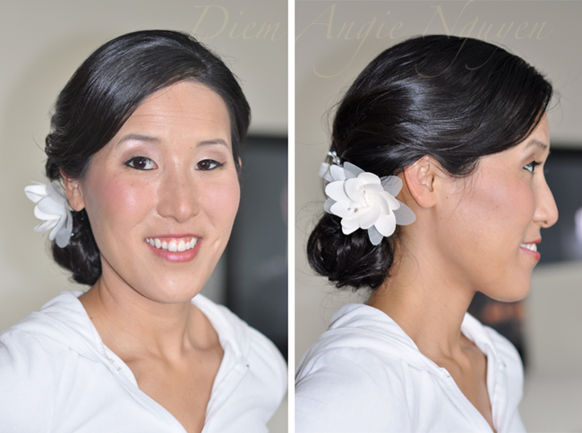 Bridal Romantic Westin Natural Side Makeup/  Chicago  Hotel makeup chicago natural   {Asian