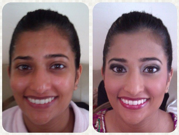 Airbrush Bridal Makeup Before And After : Chicago Indian Bridal Makeup Artist: Before and After ...